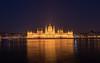 Parliament at night - Budapest (ciwi.photography) Tags: budapest danube river donau flus ungarn hungary parliament night longexposure golden reflection blue water nacht