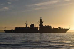 HMS Westminster (F237) (mattmckie98) Tags: hms westminster type23 frigate ship southsea vessel navy royal portsmouth military sunset