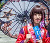 Portrait With Umbrella (westbymidwest) Tags: sanfrancisco california japantown cosplay unbrella symbols portrait
