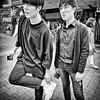 harajuku, japan (michaelalvis) Tags: people monochrome candid portrait travel streetlife streetphotography japan japanese tokyo harajuku asia bw blackandwhite fujifilm x70 peoplestreet