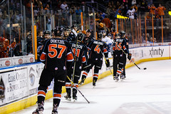 "Kansas City Mavericks vs. Toledo Walleye, January 21, 2018, Silverstein Eye Centers Arena, Independence, Missouri.  Photo: © John Howe / Howe Creative Photography, all rights reserved 2018. • <a style=""font-size:0.8em;"" href=""http://www.flickr.com/photos/134016632@N02/24969555017/"" target=""_blank"">View on Flickr</a>"