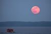 Moonrise Over The Tennessee River (mindwalker2076) Tags: sky water killen alabama wilsonlake tennesseeriver boat river moonrise fullmoon moon