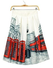 Designer Downtown Print Skirt (mywowstuff) Tags: gifts gadgets cool family friends funny shopping men women kids home