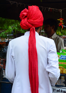 A man wearing traditional Rajasthani dress