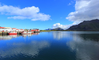 Lofoten, Fjordside in the Mirror