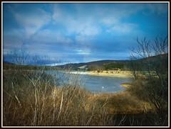 Rocky Gap SP ~ winter beach (karma (Karen)) Tags: rockygapsp flinstone maryland alleganyco mdstateparks lakes lakehabeeb beaches mountains hss topf25 cmwd