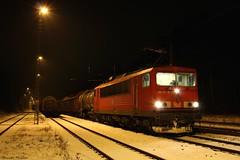 155 111-8 in Beelitz-Heilstätten (143 321-8) Tags: br155 1551118 db cargo beelitzheilstätten güterzug dr250 container lok lokomotive bahnhof nacht schnee