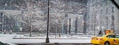 SNOW DAY (**** j a z z z i ***) Tags: canon eos 5d mark iv ef2470mm f28l ii usm chicago downtown snow night urban reflection cars lights building road city hdr slush february 18 2018 scene urbanscene tree lightpole cab taxi