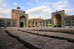 Kerman's Jameh Mosque (deus77) Tags: iran kerman friday mosque jameh architecture persian iranian inside interior carpets roll