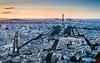 Sunset in Paris (valcker) Tags: france tags sunset cityscapes paris eiffel toureiffel sun sky light warm cityscape landscape nature montparnasse parisfromabove frenchphotography cityoflight clouds streets champdemars cityline