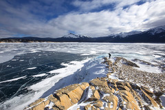 Solitude (yan08865) Tags: ocean sea lake frozen bay alberta abraham mountain landscape rock blue coast ice nature earth maligne peyto beach sky water