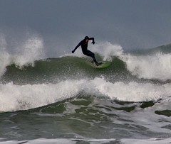 On top of the wave (Purple Tomato Images) Tags: exhilarating breakingwave cornishcoast cornwall coast sea beach wave surfing surf