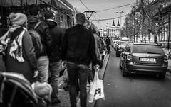 Tramspotting (Henka69) Tags: tram publictransportation praha prague streetphotography monochrome people