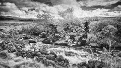 2017 Skye - Crossing Point (Birm) Tags: 2017 skye infrared ose burn summer nex 6 sony sky clouds stream rocks