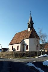Alsleben, Kreuzkapelle (palladio1580) Tags: bayern franken unterfranken alsleben landkreisrhöngrabfeld kreuzkapelle gotik