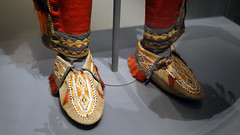 Huron–Wendat moccasins from Anishinaabe outfit