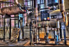 Historic Lowell Steam Plant (Pearce Levrais Photography) Tags: historic lowell steamplant steam pipe windows boiler hdr building architecture canon 7d markii urbex brick wood steel framework