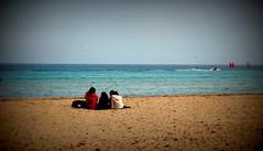 Buona Domenica (dona(bluesea)) Tags: gioia joy mare sea spiaggia beach sabbia sand spensieratezza lightheartedness mondello palermo sicilia sicily