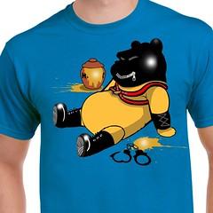 Pooh Bear Fetish (sherwoodscot) Tags: winniethepooh honey funny tshirt tshirtdesign gay fetish latex sex handcuffs graphicdesign scottsherwood disney bear poohbear mess harness