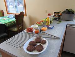 Burger Bar and Salads (genesee_metcalfs) Tags: birthday food burger salad veggies