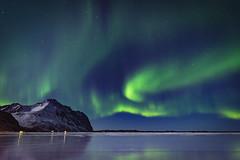 Eggum aurora (Lukasz Lukomski) Tags: norway lofoten northernlights aurora ice landscape reflection longexposure lukaszlukomski nikond7200