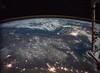 Korean Peninsula by Moon Light (sjrankin) Tags: 10january2018 edited nasa citylights korea southkorea northkorea rok dprk koreanpeninsula iss iss053 seoul earthslimb iss053e306197 china russia airglow