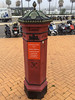 A Letter Box in Gibralta (Meon Valley Photos.) Tags: red letter box gibralta street pavement ngc