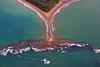 Formation de queue de baleine dans le parc Marino Ballena (Voyages Lambert) Tags: whaletail aerialview coastline corcovado costarica physicalgeography