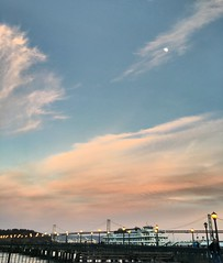 san francisco sunset (LaNea T.) Tags: sky embarcadero baybridge pier photography sunset california sanfrancisco