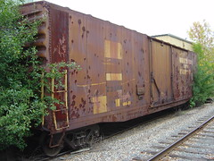 GBW 23004 has seen better days (AndyWS formerly_WisconsinSkies) Tags: railroad railway railfan boxcar rollingstock greenbayandwestern gbw abandoned