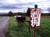 'speed limit 15' (Ed_PFF) Tags: rusty rust sign mailbox country rural