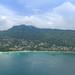 Luftbild vom Strand Beau Vallon Mahe