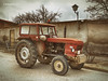 tractor 01 (rokobilbo) Tags: tractor field rural old era engine red wheels work