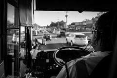 On the road... (TS_1000) Tags: bus coach driver newyork ny nyc leica q summilux 28mm sw bnw blackandwhitephotography street
