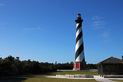 cape hatteras lighthouse (scott1346) Tags: light structure beacon safety ships recognition ocean storms spiral black white 1001nights canont3i 1001nightsmagiccity thegalaxy