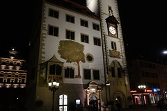 Rathaus Würzburg (*Tom68*) Tags: europa europe outdoor deutschland germany franken franconia unterfranken lowerfranconia würzburg nachtaufnahme nacht night nightpicture stadt city black schwarz schwarzerhintergrund mainfranken