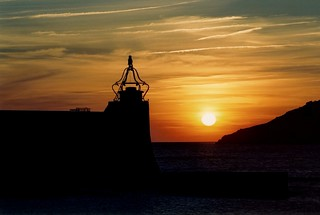COLLIOURE PIER LIGHTHOUSE RISING SUN