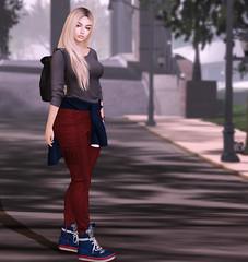 Campus Casual (Carissa Crimson) Tags: collegefashion secondlife avatar virtualgirls coed campus