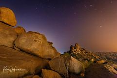 Boulders Under the Sky (Kelsie DiPerna) Tags: stars astrophotography sky india karnataka hampi rocks boulders rockstrata twilight dusk outdoors landscape longexposure settingsun sundown moodysky sunset dramaticsky