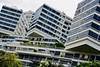 Sing Skies (Zee Jenkins) Tags: singapore architecture buildings clouds windows lines angles tourist