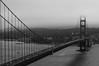 SUSPENSION (littlekingkong) Tags: summer sanfrancisco serenity bay bridge blackandwhite boat goldengatebridge haze architecture nikon nature ocean oakland california america suspension