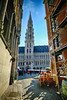 Grand Place in Brussels, Belgium (` Toshio ') Tags: toshio brussels belgium europe european europeanunion hoteldeville cityhall history restaurant cafe people fujixt2 xt2