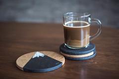 DSC_0519-2 (B.Gim) Tags: coffee coaster product 35mm nikon brown glass d3100 closeup bokeh photography photo cup mug cupofcoffee hispter chalk chalkboard