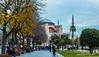 aya sofya (isoVlog) Tags: ayasofya hagiasophia architectural mosque church green clouds city sky istanbul blue canon leaf autumn winter cold historical turkey travel gezi tarihi