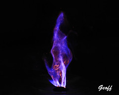 Potassium permanganate and glycerol reaction (gwhiteway) Tags: spontaneous combustion reaction chemistry chemical glycerol science chemist flame fire burning education research college university exothermic potassium permanganate toxic danger safety oxidizing oxidation carbon
