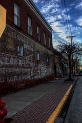Carbondale, IL 03 (Christopher Elliot Taylor) Tags: 452 outdoors sidestreet street brick architecture places travel tourism canont1i affinityphoto carbondale carbondaleil southernillinois