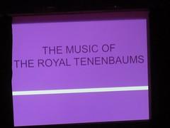 Title card (michaelz1) Tags: livemusic thechapel sanfrancisco sfsketchfest royaltenanbaums soundtrack