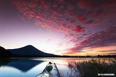 Lake Tanuki (koshichiba) Tags: tanuki lake sunrise fuji fujisan mtfuji fujiyama japan nature morning orange shizuoka fujinomiya
