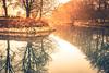 Reflection (Maria Eklind) Tags: winter nature water spegling sweden weather canal malmö reflection cityview mist kanal park city dimma kungsparken fog skånelän sverige se