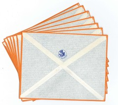 Air France 1939 Correspondence Kit, Lot of Covers, back (afvintage) Tags: envelopes enveloppes covers airfrance orangeframe cadreorange logo crevette specialairmailcovers enveloppesposteaérienne siamindochinechinebrésiluruguayargentinechiliinde